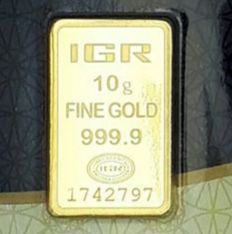 10 gramos - Oro .999 (24 quilates) - IGR - Sello + certificado