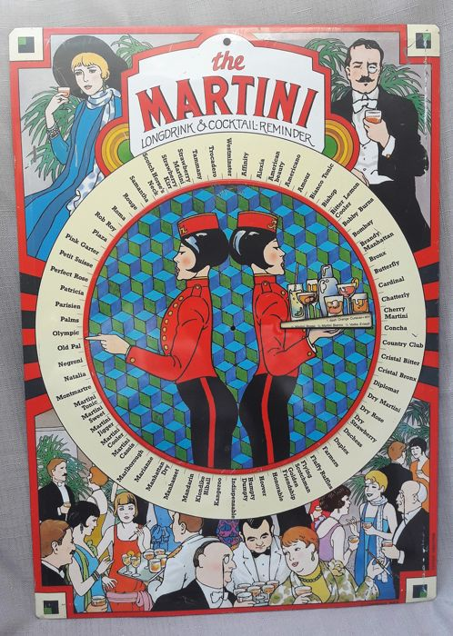 Advertising sign - The Martini Cocktail Reminder - 2nd half of the 20th century