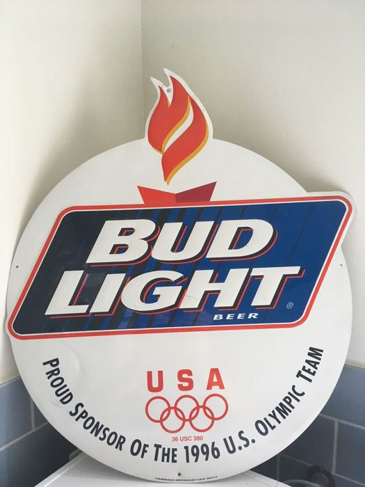 Metal advertising poster Budweiser (Bud Light) originating from the 1996 Olympics
