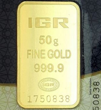 IGR- 50 gr. - 999/1000 - Minted/ Sealed & with gift box