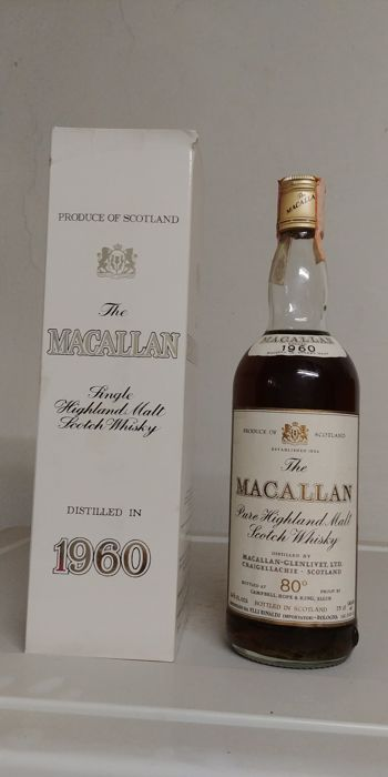 The Macallan 1960 80 proof - Campbell, Hope & King OB