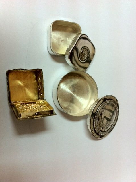 lot of 3 snuff boxes - 925 silver - old