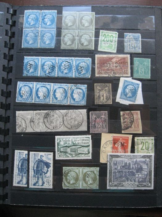 France 1868/1982 - Important collection of stamps including tax, air