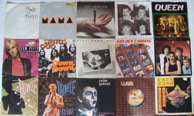 "Lot Of 35 7"" Singles From Various Great Rock Artists: Genesis/ XTC/ Pink Floyd/ Status Quo/ Queen/ David Bowie/ Tom Petty... And Many More!"