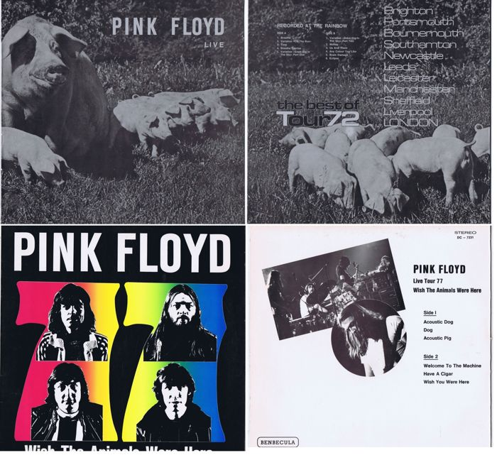 Pink Floyd - lot of 2 LPs: 1. Live - The Best Of Tour 72 (1973) Live London 1972 | 2. Wish The Animals Were Here (1977) Live Germany 1977