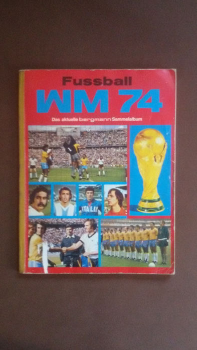 Variant Panini - miner football collector's album WM 74 winners pictures + complete