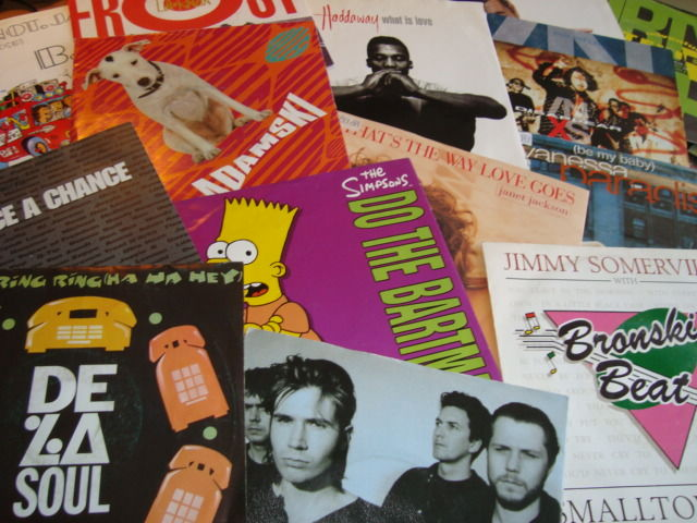 """We Love The '90s !!! II Collection of 45 7"""" singles II Best of The 90's Classics: INXS/ Snap/ Roxette/ The Simpsons/ Bryan Adams/ Janet Jackson... And Many Many More!"""