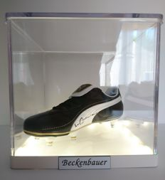 Franz Beckenbauer - Signed Boot with COA in Luxury LED Display Case
