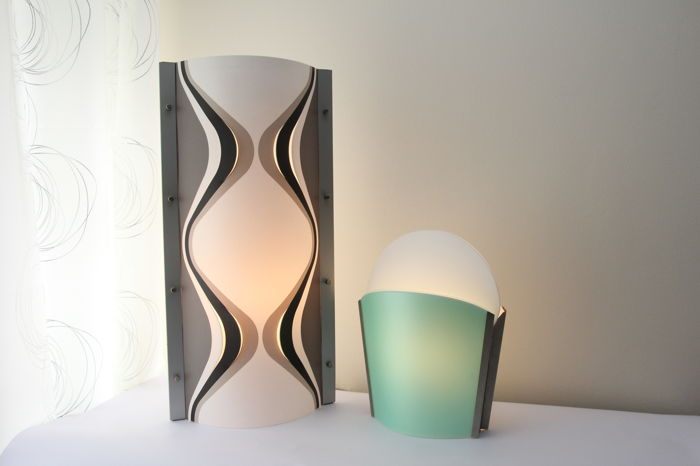 Slamp by Samuel Parker - Two table lamps - 'Anphorae' and 'Sun-Ra Sa'