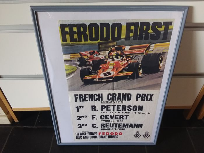 Poster - oude poster affiche ferodo first french grand prix - 1973-1973 (1 oggetti)
