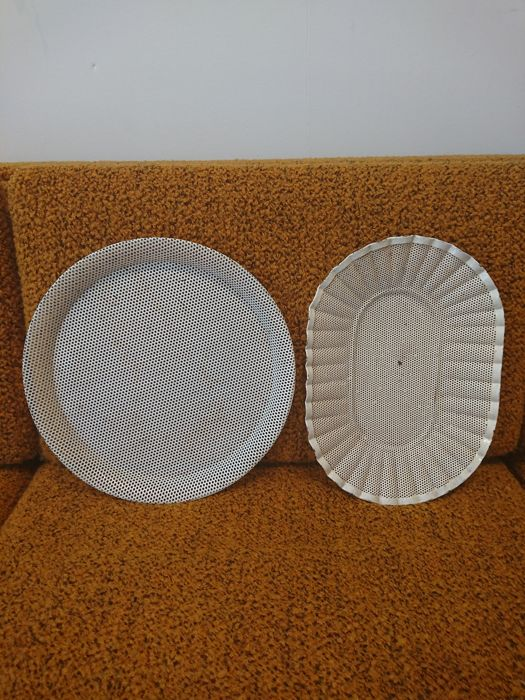 Mathieu Matégot for Ateliers Mategot - Lot of 2 rigitulle trays
