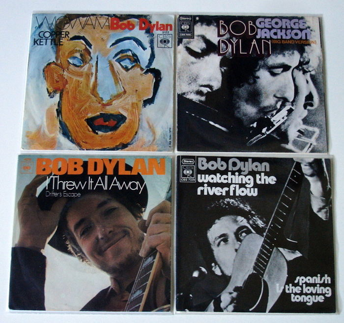 4X Singles Bob Dylan All Original 1St Pressings From The Early 1970'S From Holland