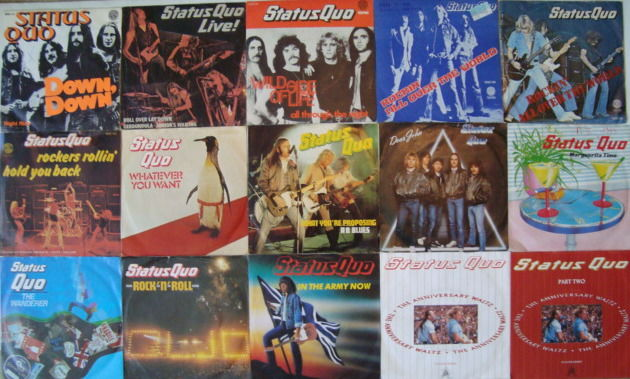 Status Quo: Lot Of 15 Original Singles With Picture Sleeve (including 1 EP) (1974-1990)