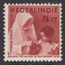 Dutch East Indies 1938 - Mission, with vertical watermark - NVPH 243a