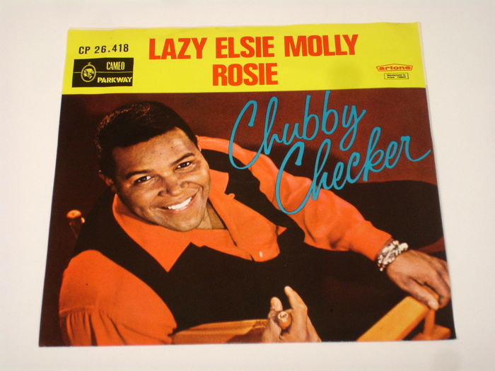 9x Singles Rock & Roll by the king of twist, CHUBBY CHECKER, all original  1st pressings 1960's from Holland