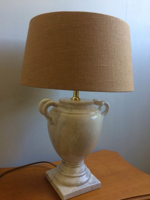 Beautiful Table Lamp In Classic Amphora Shape In Plaster And Clay   2nd  Half Of 20th Century