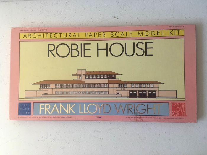 Architectural Scale Model Kit: Robie House