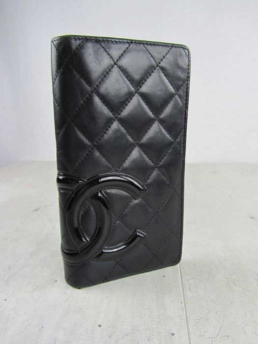 9afec8c647167f Chanel - Cambon Quilted Lambleather Large Wallet - Catawiki