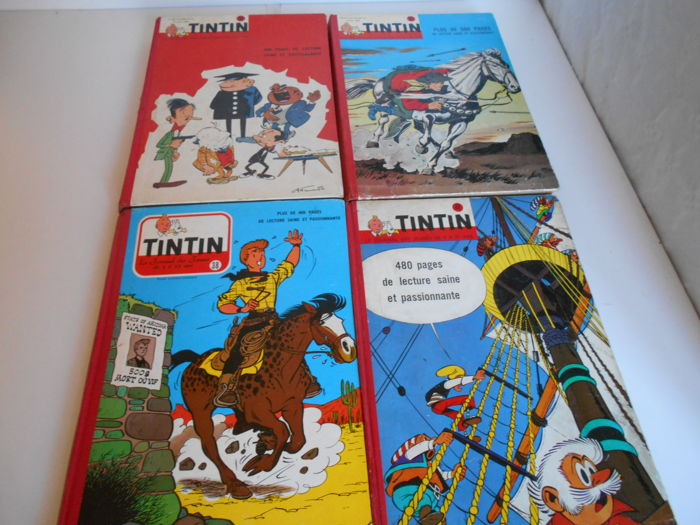 Journal Tintin  - Reliures éditeur belge 38 + 48 + 56 + 57 - 4x C  - First edition - (1957/1962)