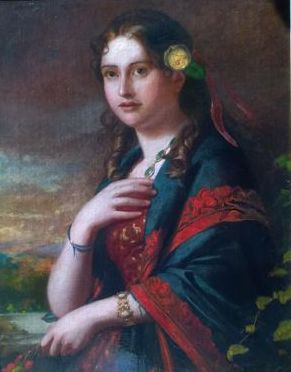 Unknow - Portrait of spanish young woman