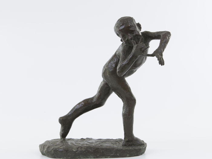 Luigi Panzeri (1865-1939) - Fanciullo - bronze sculpture