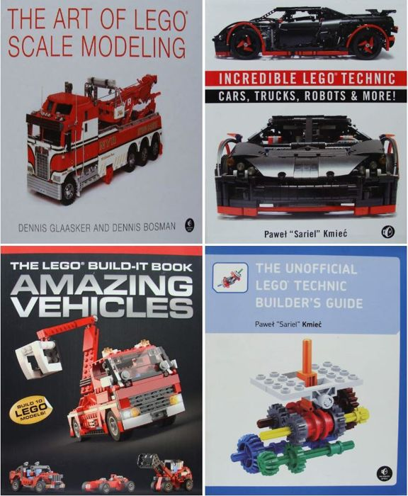 Assorti - 4 Books on LEGO Cars, Trucks, Formula 1 Racers