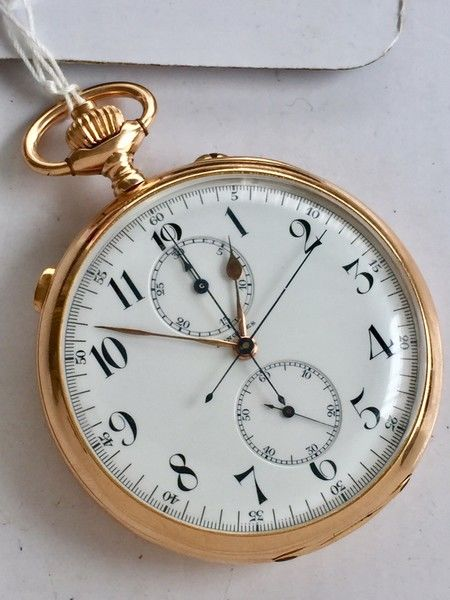 Longines - Rattrapante Chronograph 18 kt gold - split second - Unisex - 1901 - 1949