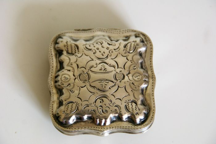 Silver peppermint tin, the Netherlands, 1865