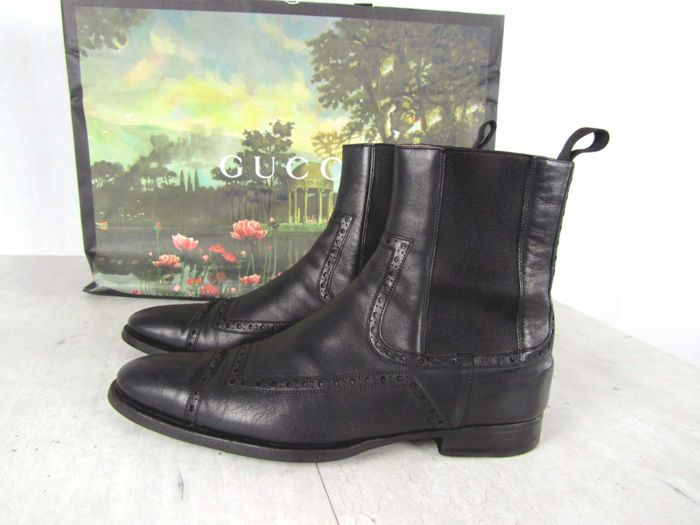 983ee7321f1 Gucci - Oxford leather Ankle Boots - Catawiki