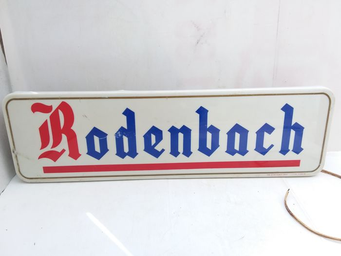 Old illuminated advertising sign for Rodenbach - Belgium - 1970.