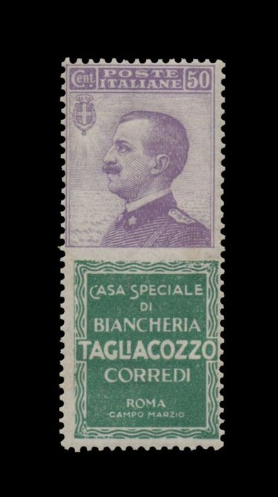 Italië koninkrijk 1924 - Advertising stamps - cents 50 Tagliacozzo ** - Sassone n. 17