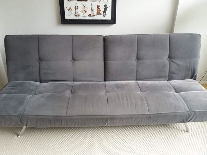 Excellent Ligne Roset Sofa Bed In Custom Classic Grey Suede Catawiki Pabps2019 Chair Design Images Pabps2019Com