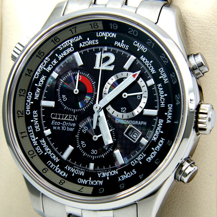 """Citizen - Eco Drive Cronograph """"World Time"""" - New - Heren - 2017"""