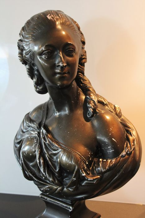 """Comtesse du Barry"" after Augustin Pajou (1730-1809) - large bust in plaster - circa 1900"