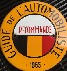 Plaque émaillée  - Guide de l'automobiliste  - 1965 (1 items)