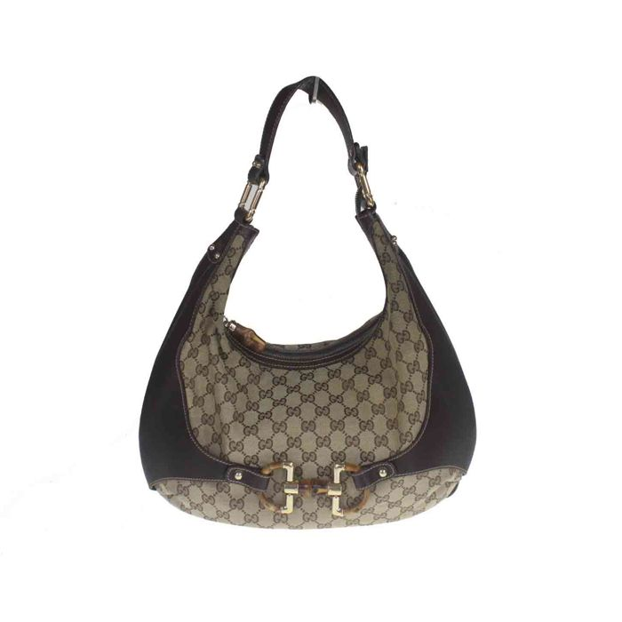 9d3cc792cb8a Gucci - Monogram Hobo Horsebit Shoulder bag - Catawiki