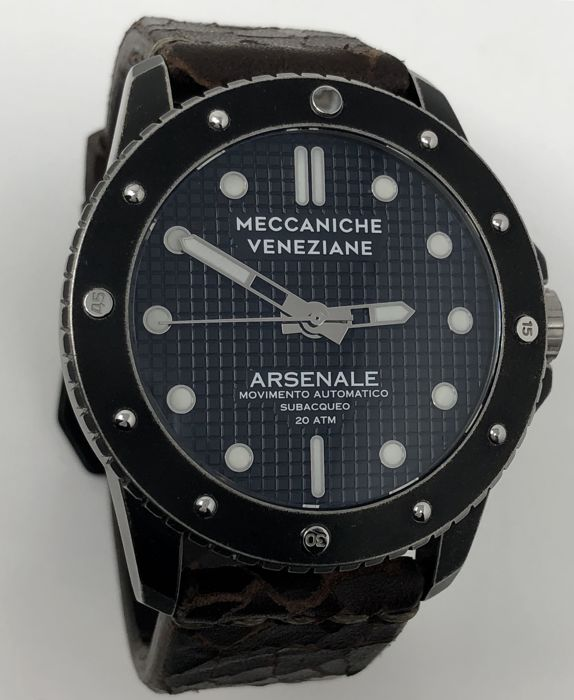 Meccaniche Veneziane - Arsenale Old PVD Automatic watch 45 mm 2 Straps - Arsenale Old - Heren - Bran New