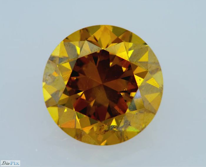 1.00 Carat Natural Fancy Brownish Orangy Yellow GIA