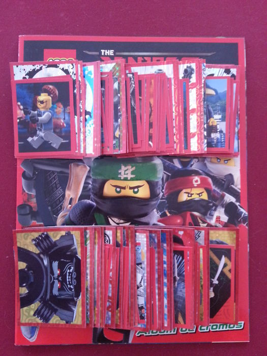 Variant Panini - Blue Ocean - Lego Ninjago - empty album + complete set of baseball cards.