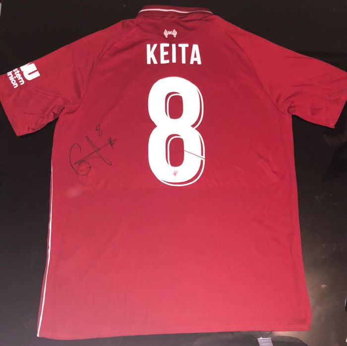 wholesale dealer 5c474 9c8a0 Signed Naby Keita Liverpool Home Shirt 18/19 Proof - Catawiki