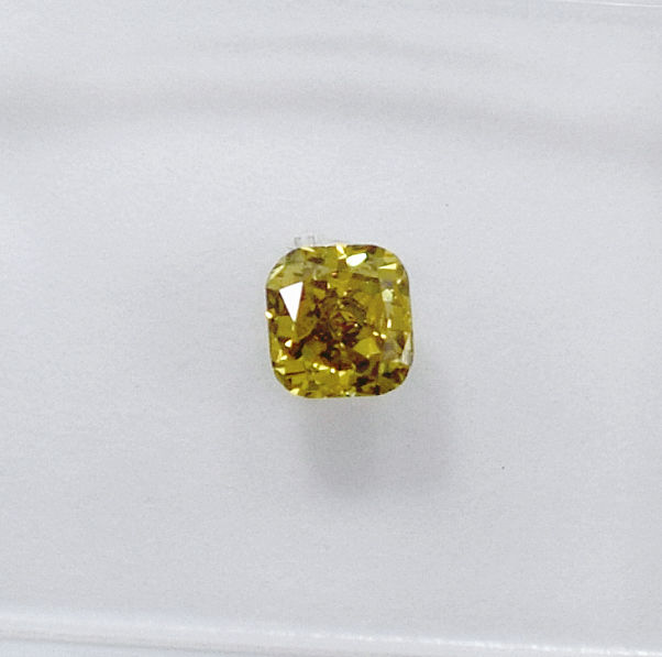 Natural Fancy Deep Greenish Brownish Yellow Diamond - 0.30 ct, VS2