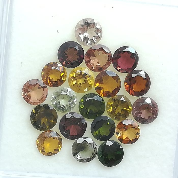 Lot of 20 Tourmalines - 9.69 ct
