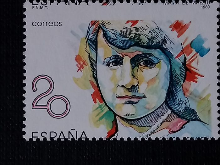 Spain 1989 - Famous women, perforation error