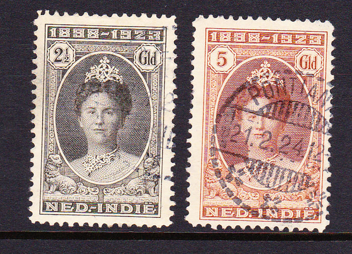 Nederlands-Indië 1923 - Government anniversary - NVPH 165 en 166