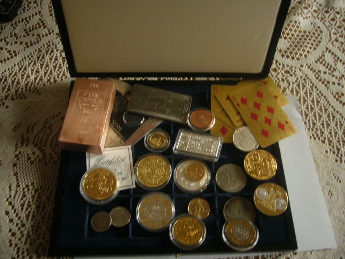 One Oz Copper Rounds Assorted 5 Big Clearance Sale