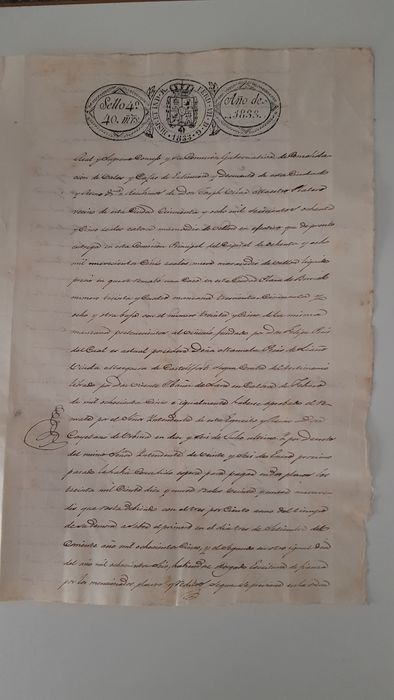 Manuscript from the age of Ferdinand VII of Spain - 1833