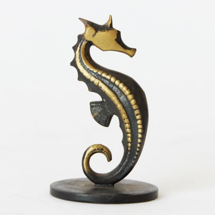 Richard Rohac - bronze marked sculpture of a seahorse