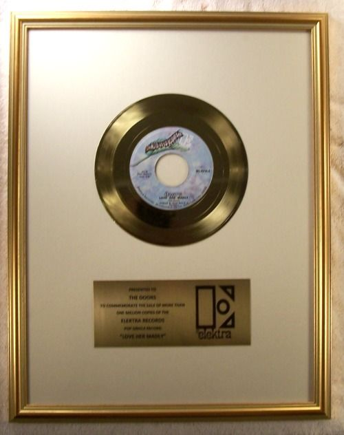 The Doors Love Her Madly 45 Official Non RIAA Gold Record Award Elektra Records