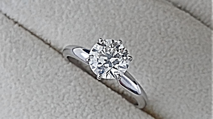 1.22 carat SI1 Round Diamond Solitaire Engagement Ring in  Gold 14K *** NO RESERVE PRICE ***
