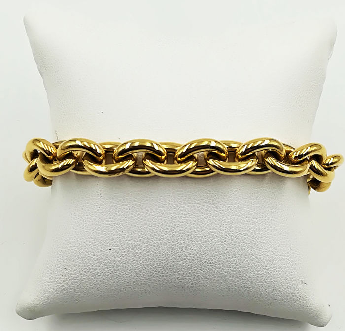 Bracelet in 18 kt yellow gold with flexible chain links, length: 20.00, total weight: 20.01 g